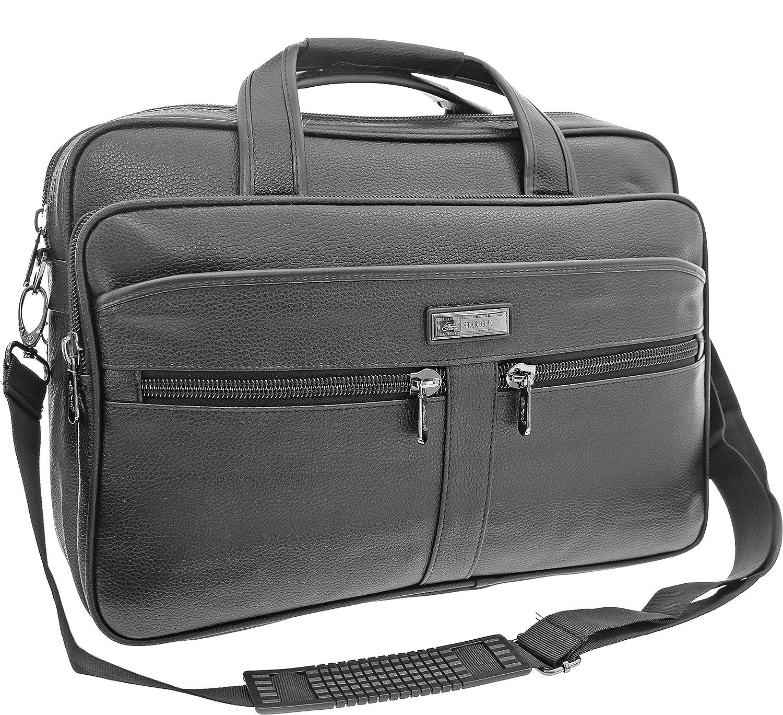XXL Businesstasche Raumwunder Arbeitstasche Herrentasche Flugbegleiter Umhängetasche Schultertasche Messenger (Modell 1)