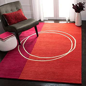 Safavieh Rodeo Drive Collection Rd624a Handmade Mid Century Modern Abstract Wool Area Rug 5 X 8 Assorted Furniture Decor