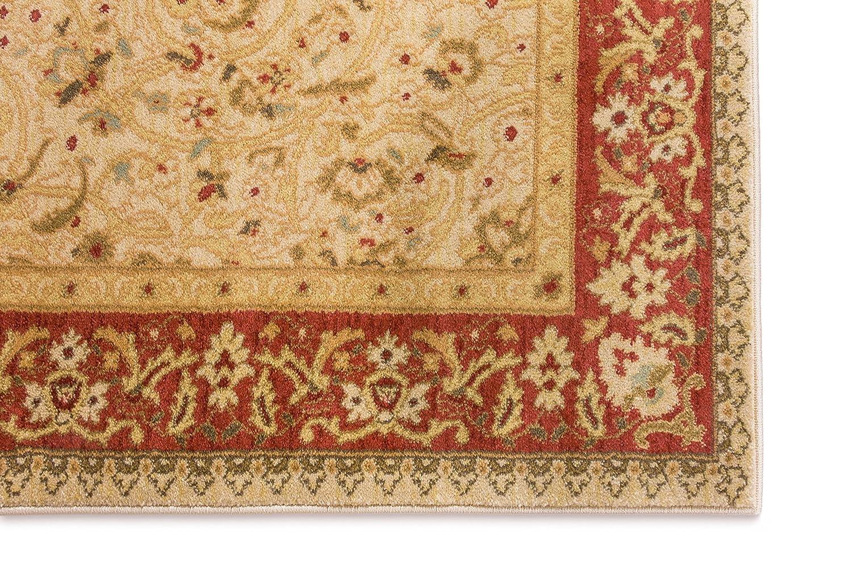 Amazon.com: Well Woven Lafayette Ivory Beige Mashhad Persian ...