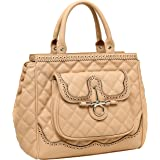 MG Collection DALEN Faux Leather Quilted Satchel Tote Style Executive Handbag