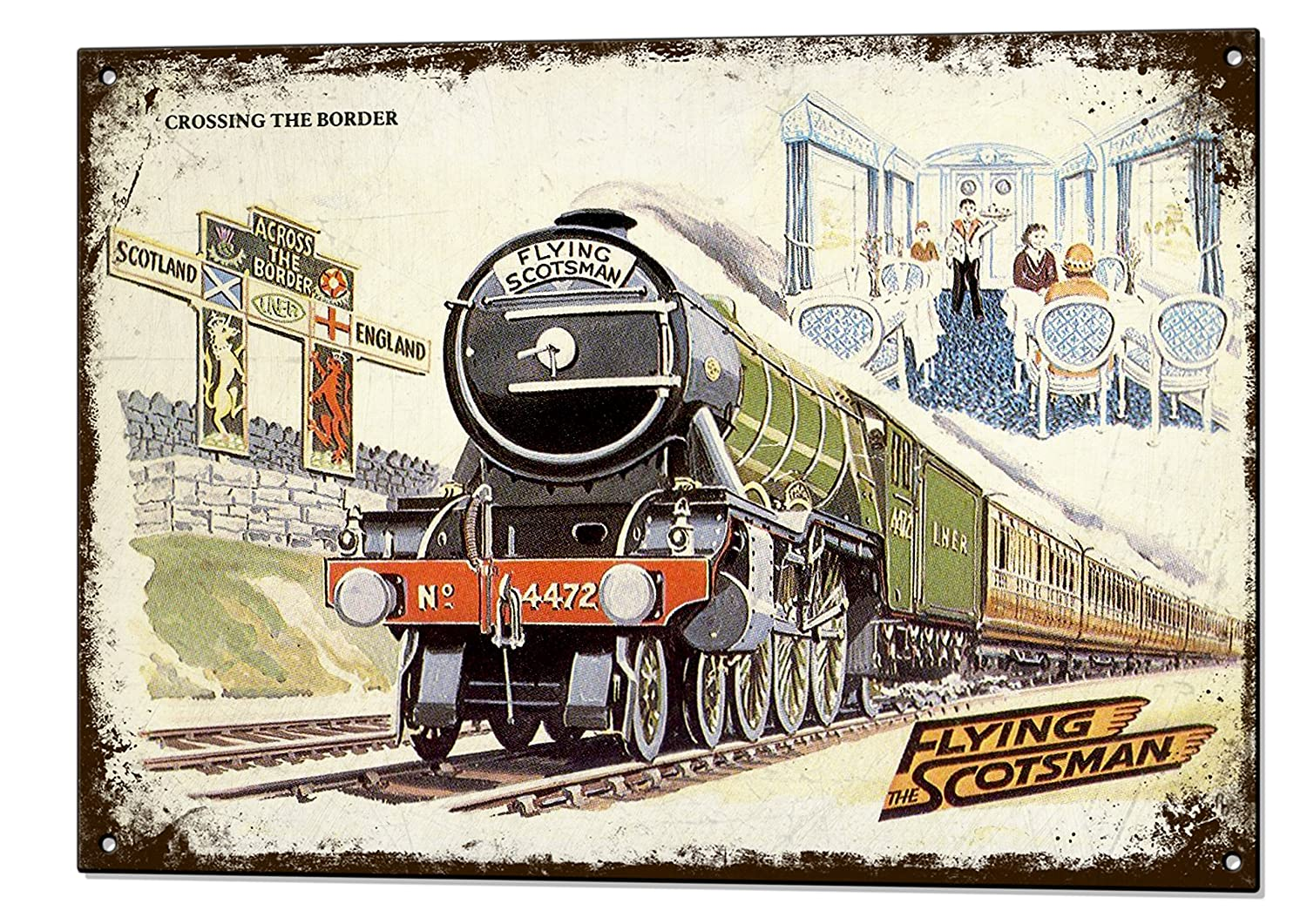 Hornby The Flying Poster Scotsman Train Retro Model Railway Train Picture Print