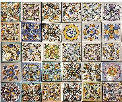 Lotto 16 Mattonella Piastrella 20x20 ceramica Vietri ...