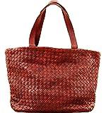 LE TRESSAGE Marron huilé cabas en cuir tressé sac à main style vintage PAUL MARIUS