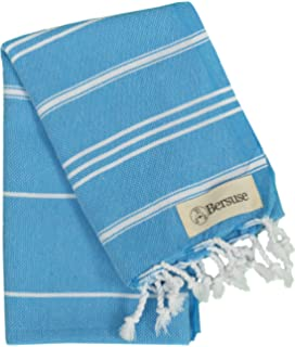 Bersuse 100% mano Anatolia turco toalla, algodón, océano azul, ...