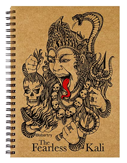 Labartrys Artistic Brown Cover Notebooksketchbook The Fearless Kali Religious Goddess Durga Wiro Bound A5 Size 140 Gsm 100 Pages