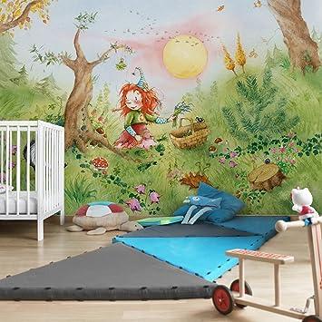Kinderzimmer Tapeten - Vliestapeten Premium - Frida sammelt Kräuter ...