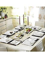 MALACASA Série Flora 60pcs Service de Table Porcelaine 12 Assiettes Plates  12 Tasses 12 Soucoupes 12 2727849dc0e4