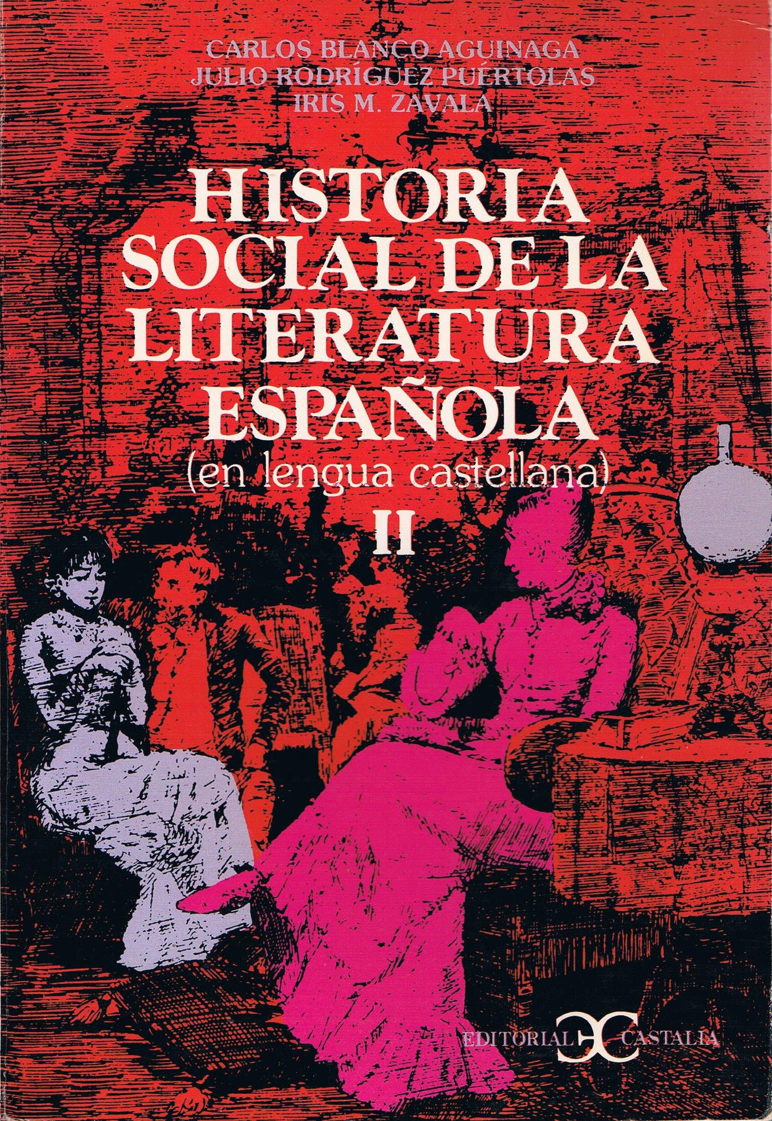Historia social de la literatura española. 3 tomos