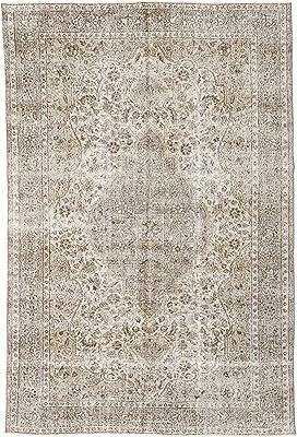"""RugVista Colored Vintage Rug 6'6"""" x9'7 (198x292 cm) Modern Carpet"""