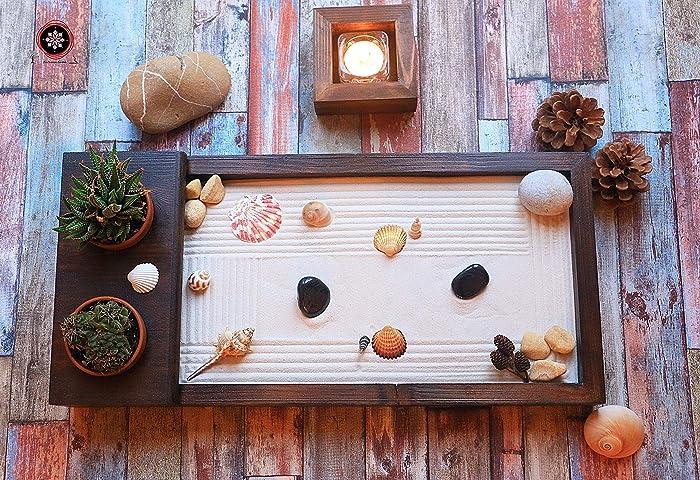 Extrem Zen garten Miniatur Ganz Aus Holz für Dekoration.Set Zubehör Sand YB07