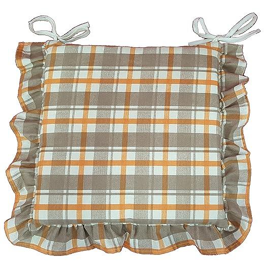 2 opinioni per Set 6 cuscini Fantasia, con volant 40x40 spessore 5 cm, copri sedia cucina,