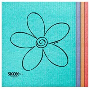 Skoy Eco-friendly Cleaning Cloth (4-pack: Assorted Colors)