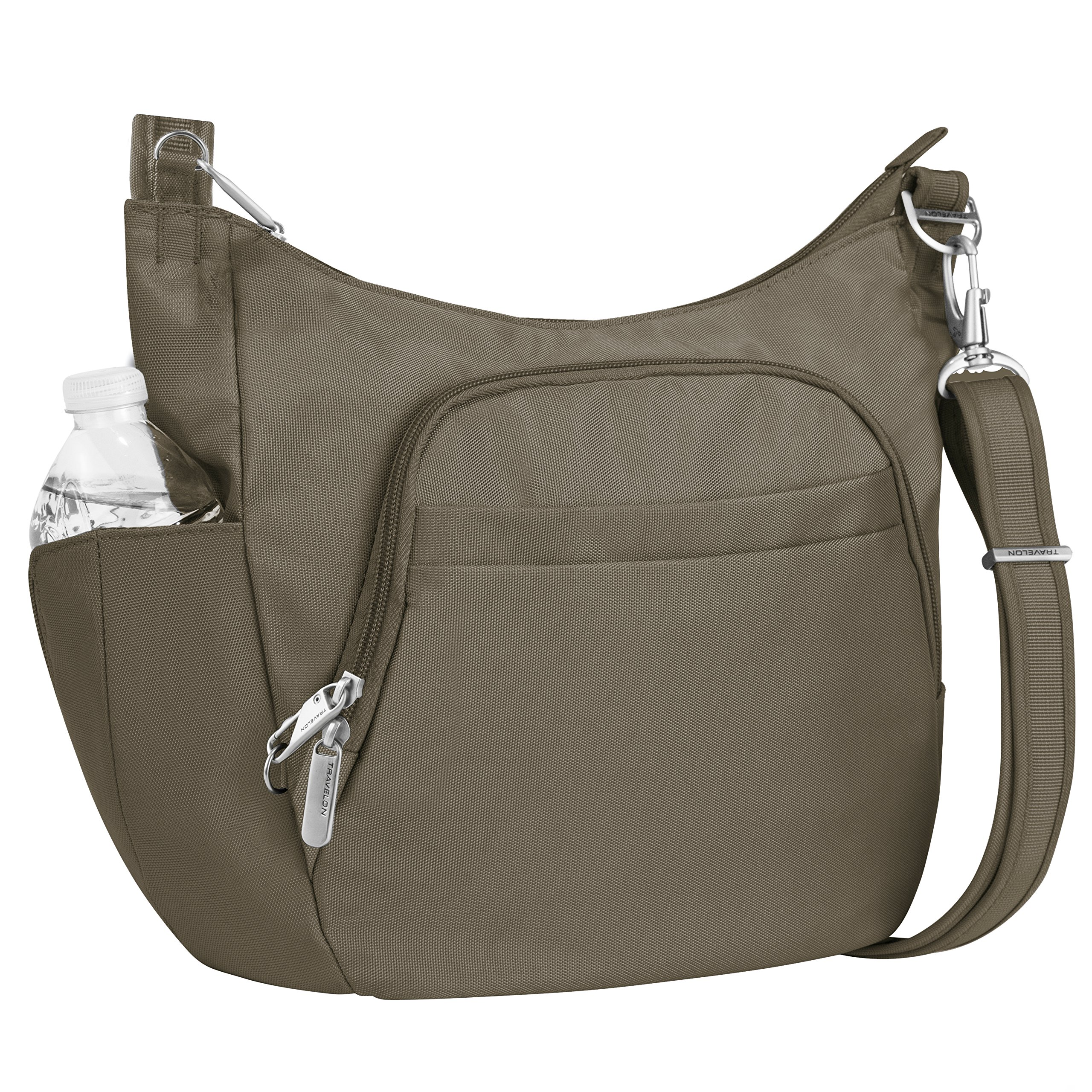 Travelon Anti-theft Classic Crossbody Bucket Bag, Nutmeg by Travelon