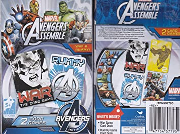 Cardinal Marvel Avengers Assemble 2 Card Games, Rummy and ...