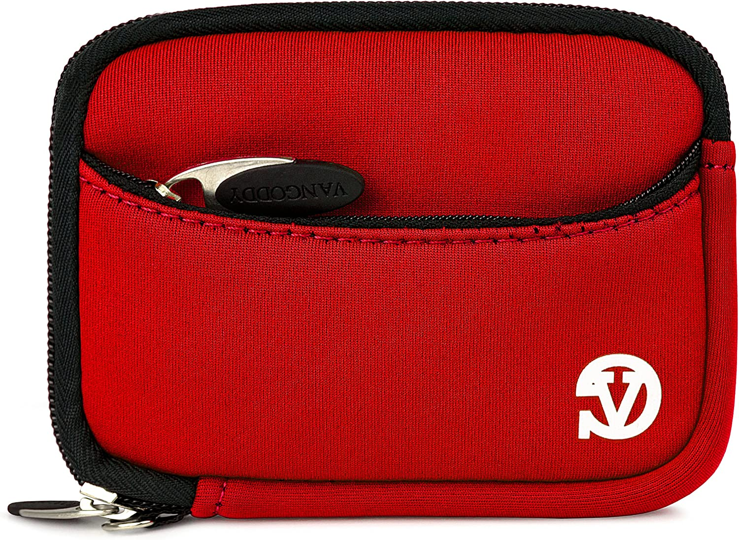 VanGoddy Mini Glove Sleeve Pouch Case for Coleman Duo2 2V9WP Waterproof Digital Cameras and Screen Protector Red