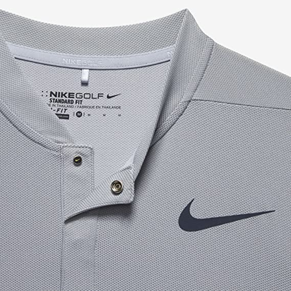 7fad8d5c Amazon.com: NIKE ZONAL COOLING MM FLY BLADE MENS STANDARD FIT GOLF POLO (WOLF  GREY, Medium): Clothing