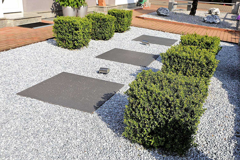 Piedras decorativas gravilla jardín grava color Blanca Bianco Carra 25Kg: Amazon.es: Bricolaje y herramientas