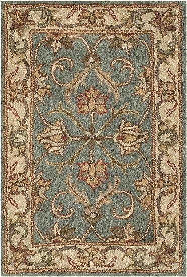 Amazon Com Safavieh Heritage Collection Hg811b Handmade Traditional Oriental Premium Wool Accent Rug 2 X 3 Blue Beige Furniture Decor