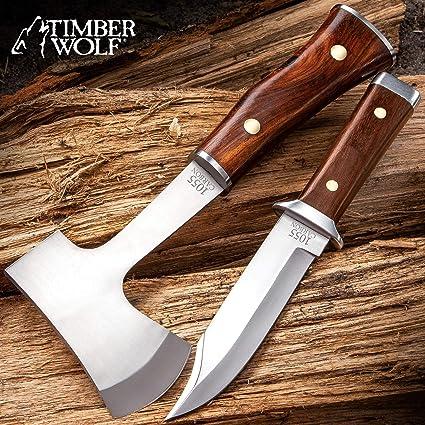 Amazon.com: Timber Wolf - Juego de cuchillos de expedición ...