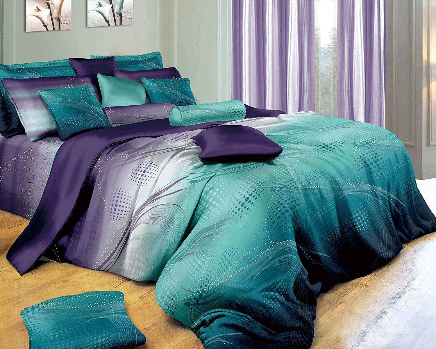 Swanson Beddings Twilight-P 3-Piece Duvet Bedding Set: Duvet Cover and Two Pillow Shams (Queen