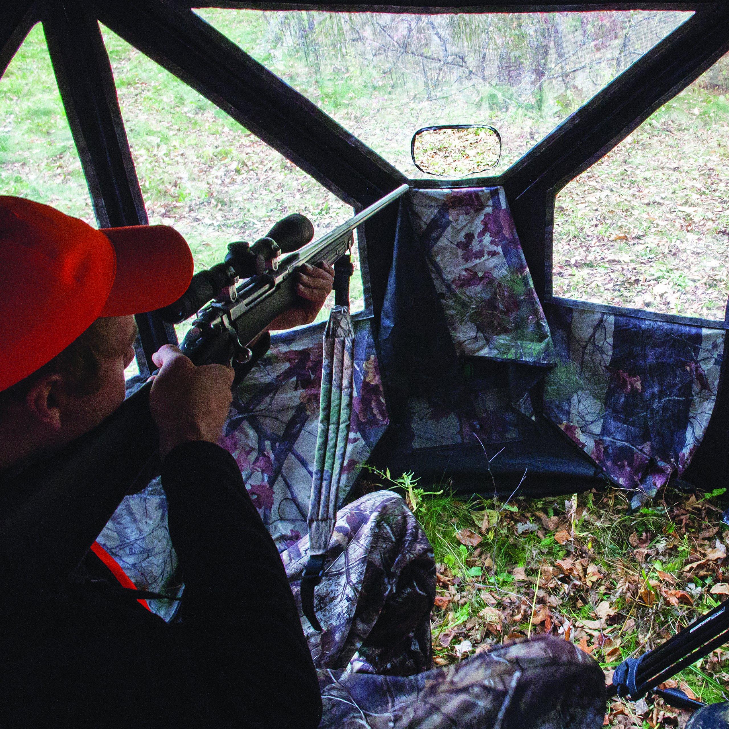 Barronett Blinds PT550BW Pentagon Pop Up Portable Hunting Blind, Bloodtrail Backwoods Camo by Barronett Blinds (Image #7)