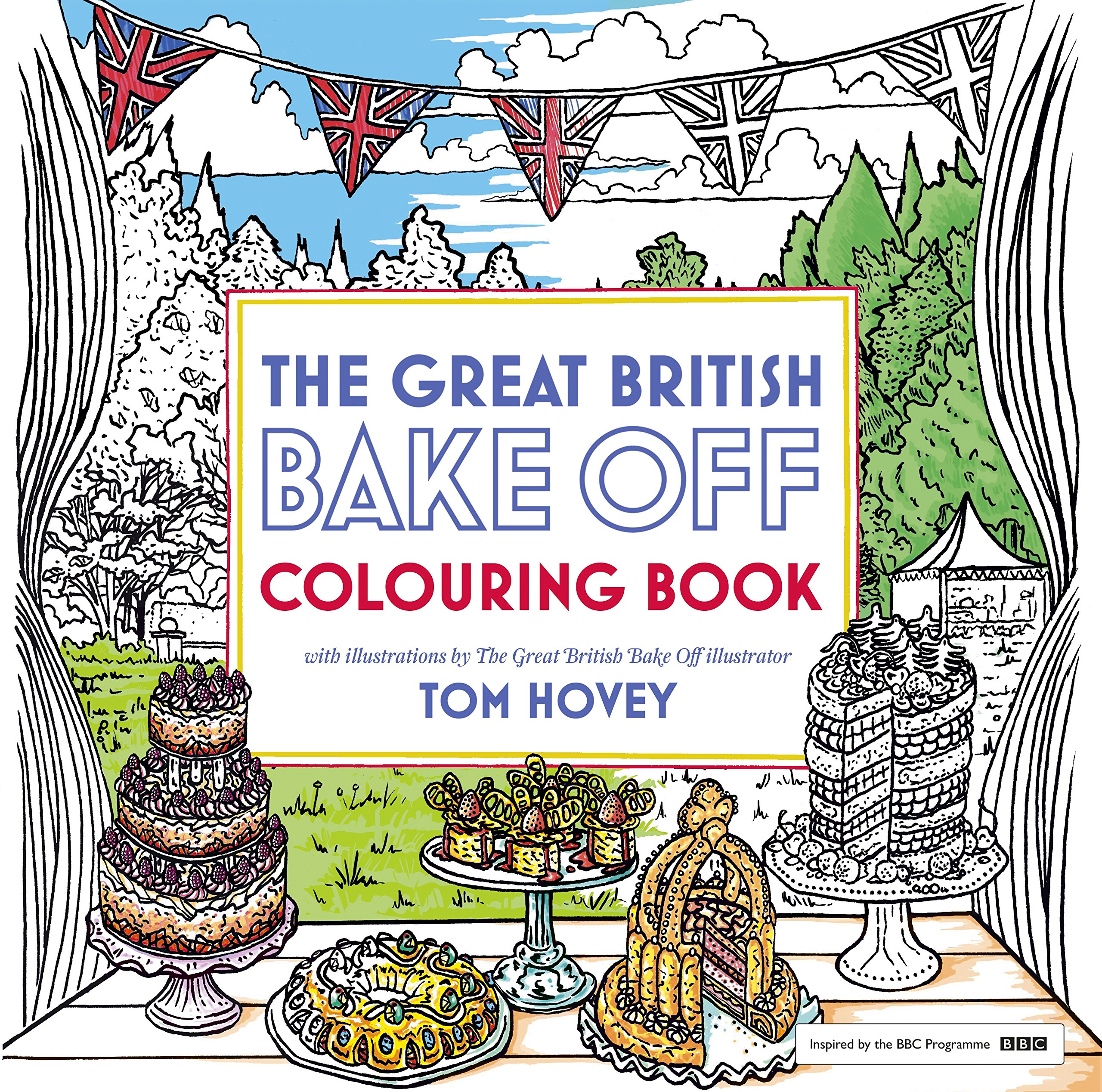 Great British Bake Off Colouring Book Colouring Books: Amazon.es ...