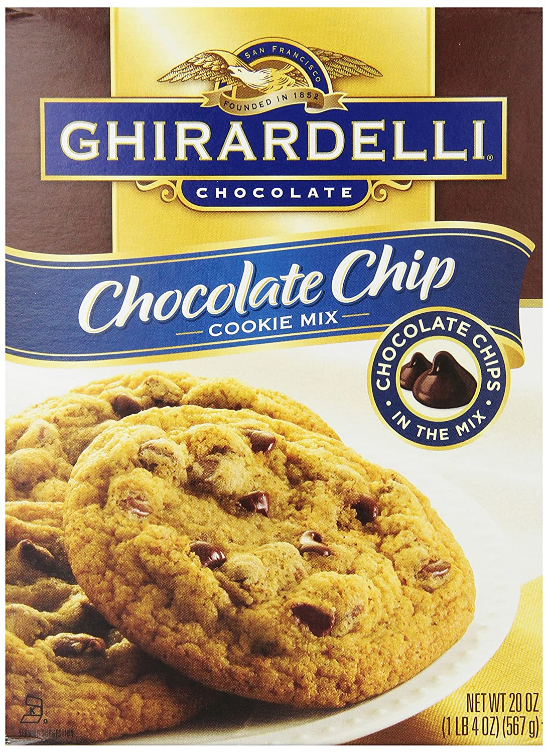 Amazon.com : Ghirardelli Chocolate Chip Cookie Mix, 20-Ounce Boxes ...