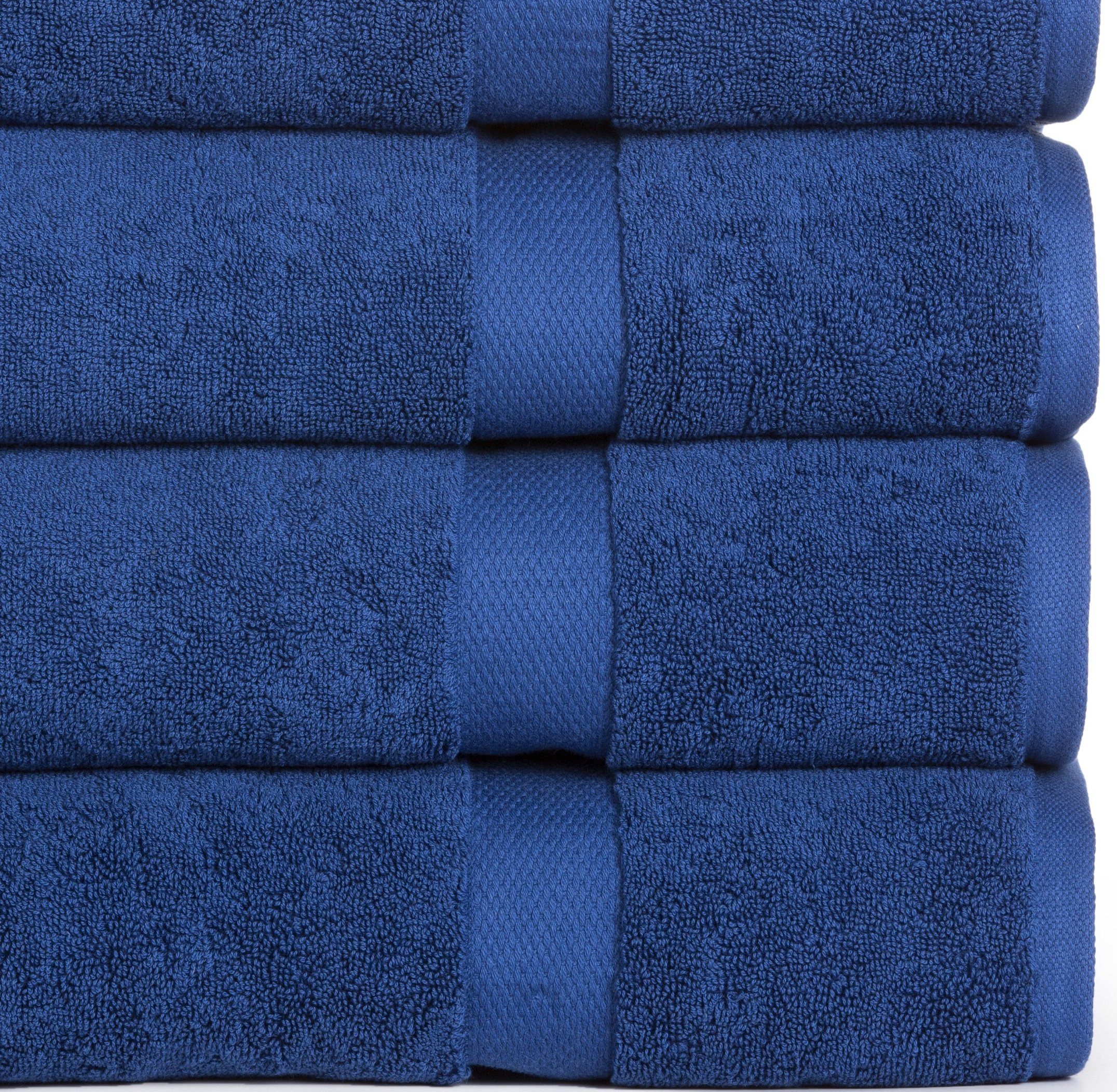 Madhvi Collection 800 GSM Premium Combed Cotton Extra Large 30 x 60 Inch Bath Towels 4 Pack, Oversized and Heavy Bath Towel Set, Hotel and Spa Towels Set With Maximum Softness, High Absorbency (Navy) by Casa Platino (Image #2)