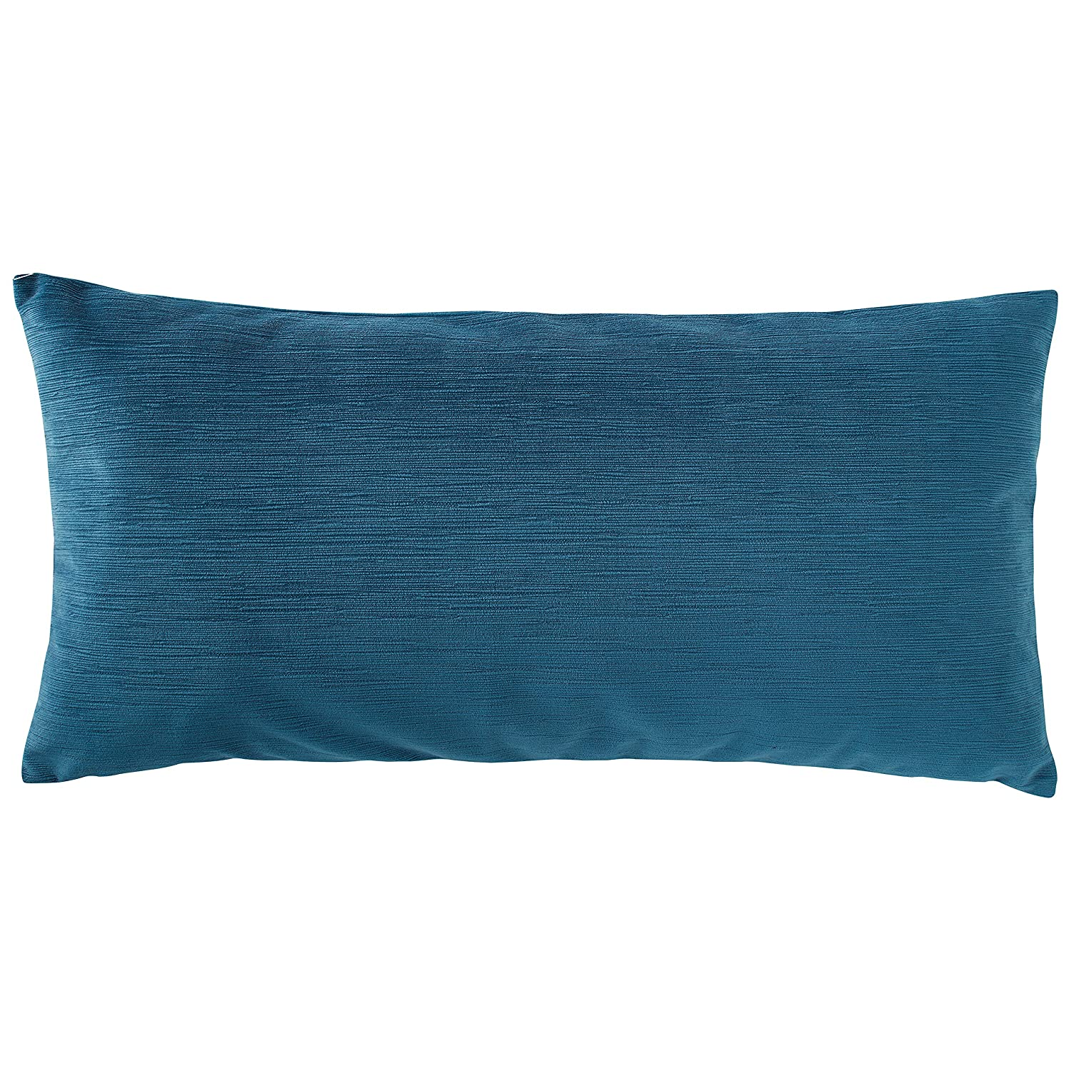 Rivet Velvet Texture Decorative Throw Pillow, 12 x 24 , Azure