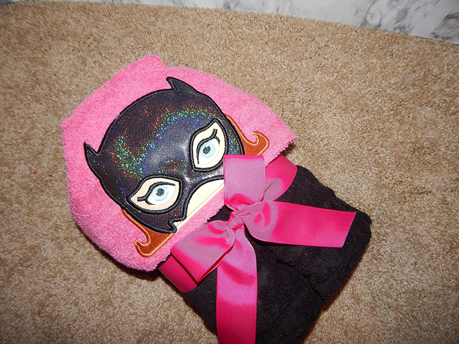 Personalized Bat Girl Hooded Towel
