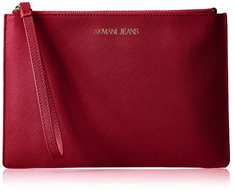 4d9ab49cc0 Amazon.com  Armani Jeans Saffiano Crossbody Clutch