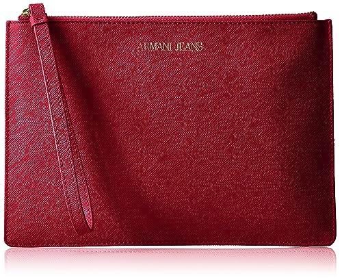 b119723432e Armani Jeans Saffiano Crossbody Clutch, Berry  Amazon.co.uk  Shoes ...