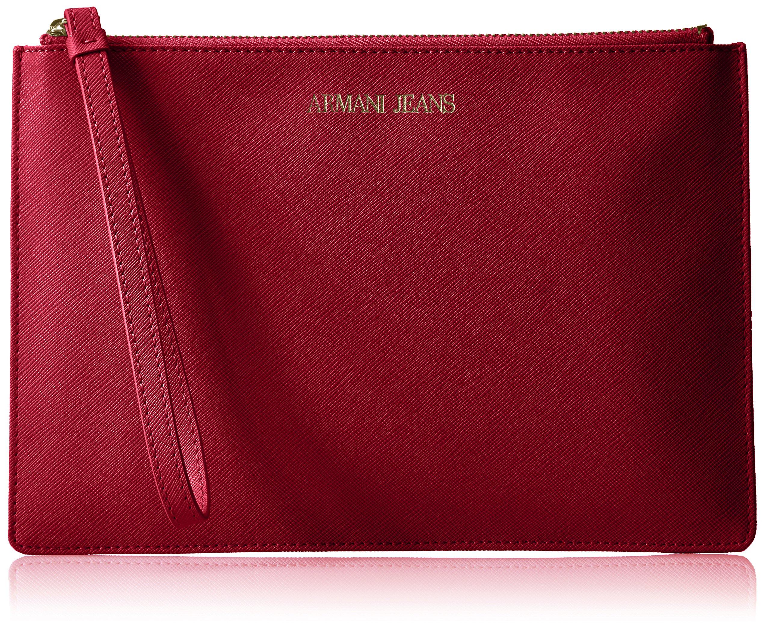 Armani Jeans Saffiano Crossbody Clutch, Berry by ARMANI JEANS