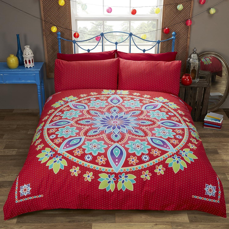 Rapport Bohemian Mandala Duvet Set Polyester-Cotton Double-Black