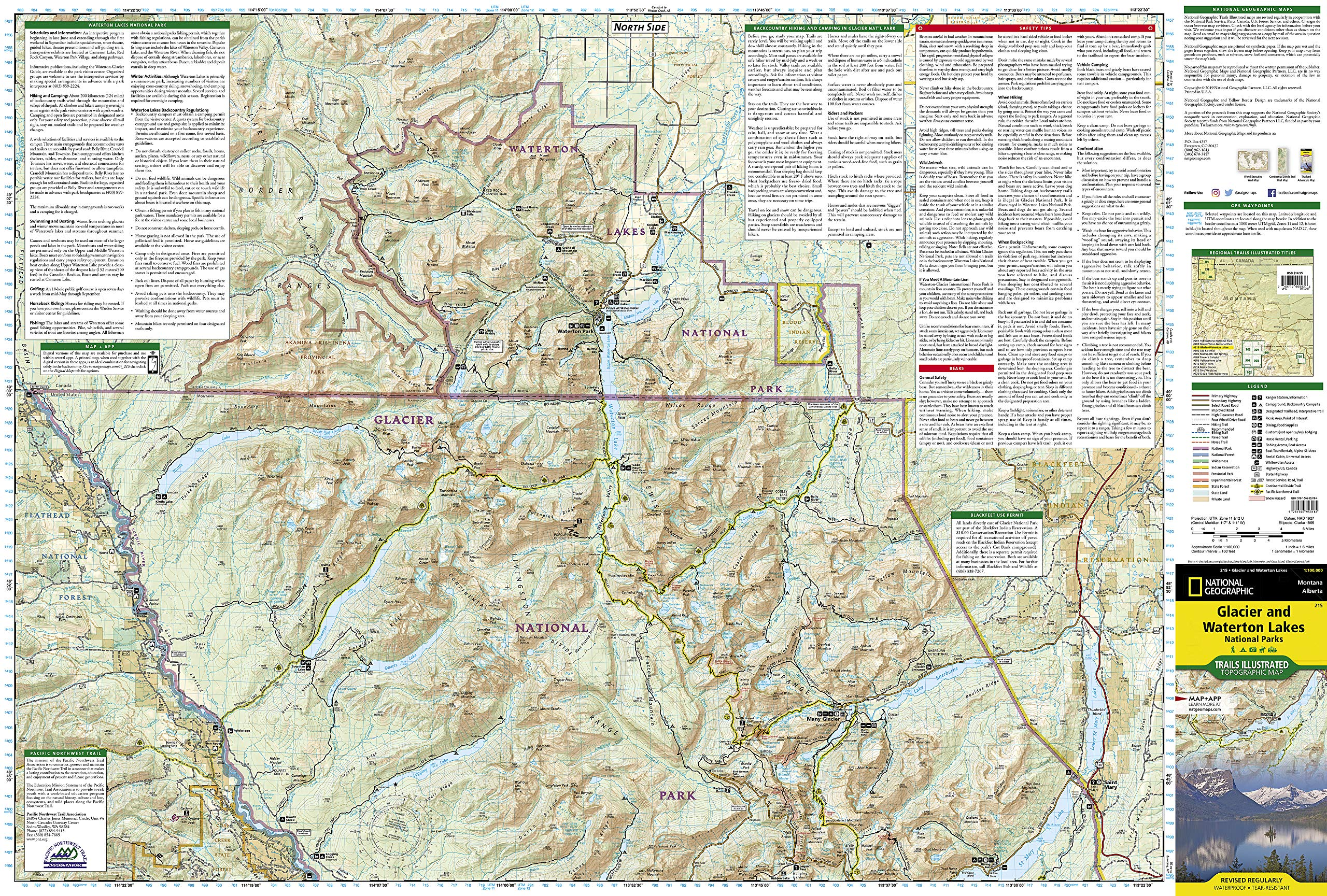 Topographic Trail Maps By Nat Maps Atlases Us Yellowstone Grand - Yellowstone-us-map