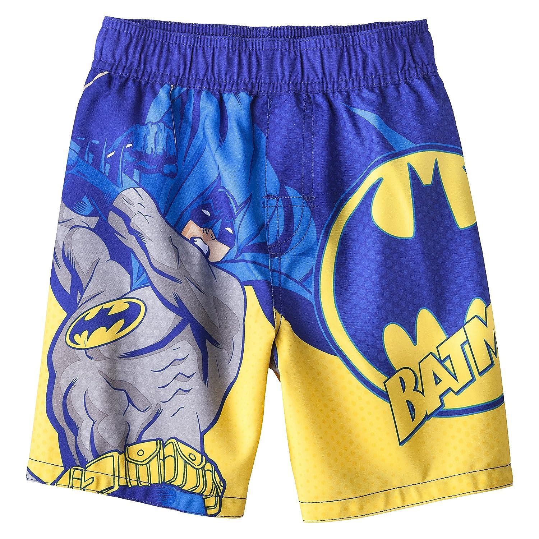 f9b0c8d740 Amazon.com: DC Comics Batman Swimsuit Swim Trunk Toddler Boy Size 5T:  Clothing