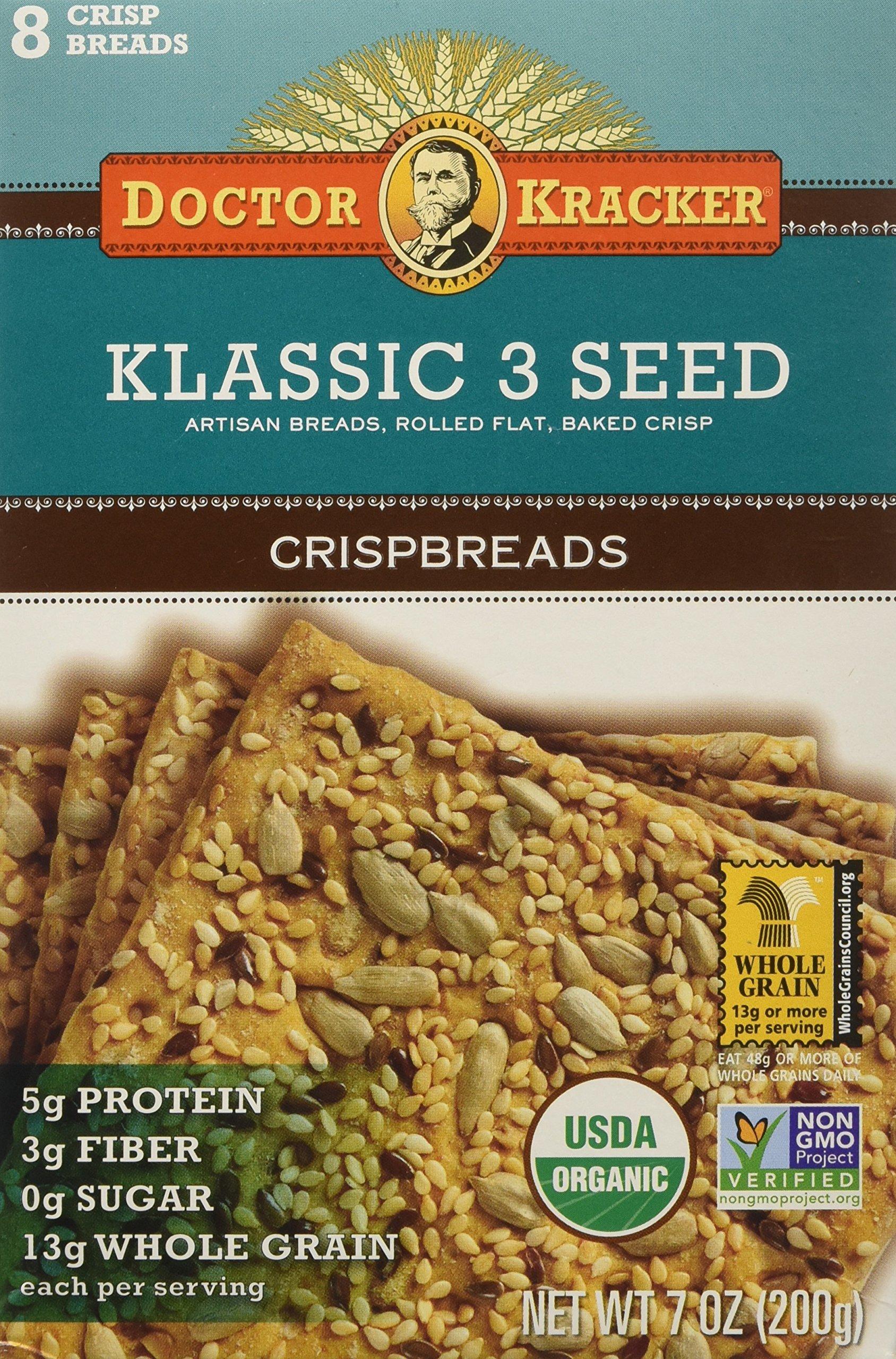 Klassic 3 Seed Flatbreads, 7 oz (200 g)