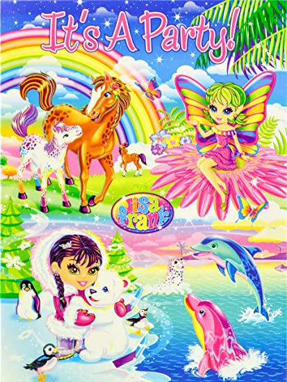 Lisa Frank Set Of 6 Blank Party Invitations Its A Horse Foal Fairy Dolphins Eskimo Bear