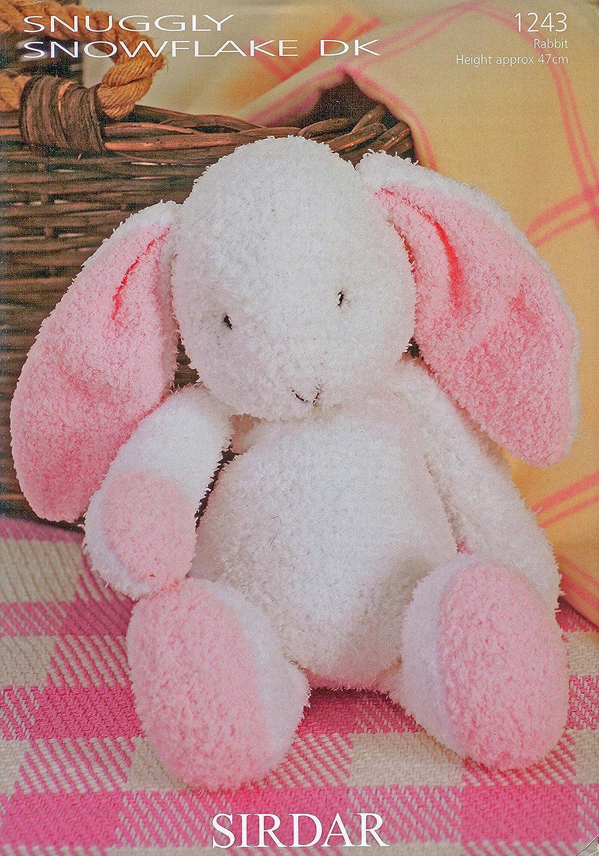 Sirdar knitting pattern fun knit flopsy the bunny rabbit snuggly sirdar knitting pattern fun knit flopsy the bunny rabbit snuggly snowflake double knit design 1243 by sirdar amazon kitchen home bankloansurffo Choice Image