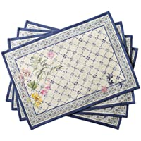 Maison d' Hermine Faïence 100% Cotton Set of 4 Placemats 13 Inch by 19 Inch
