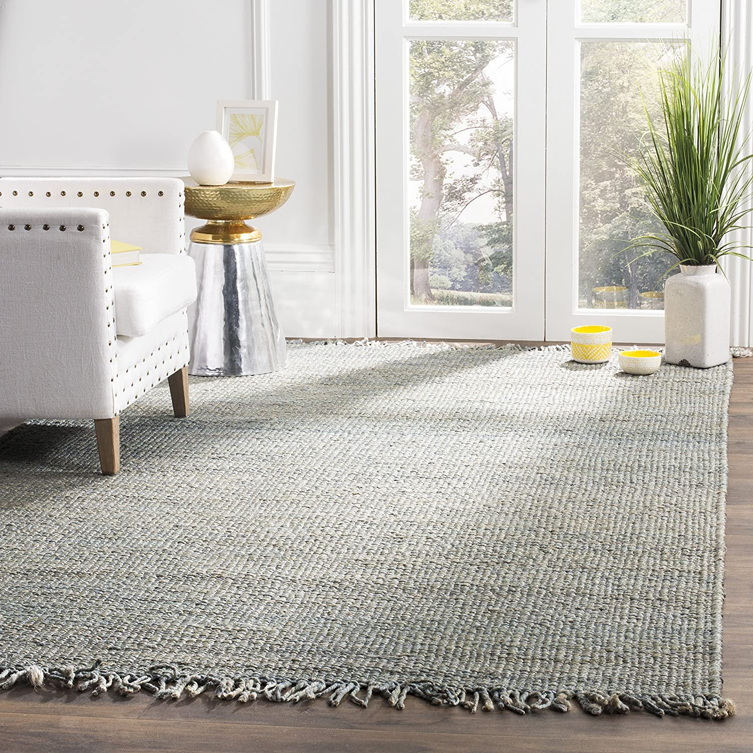 Safavieh Natural Fiber Collection NF368B Hand-Woven Ivory Jute Area Rug 3 x 5