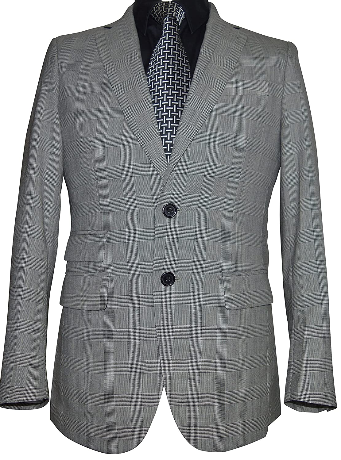 MENS PRINCE OF WALES CHECK DESIGNER SUIT Amazon Clothing