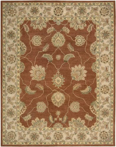 Nourison Charleston Copper Rectangle Area Rug, 7-Feet 6-Inches by 9-Feet 6-Inches 7 6 x 9 6