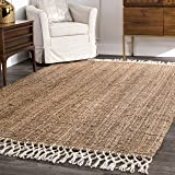 nuLOOM Hand Woven Raleigh Area Rug, 3' x 5', Natural