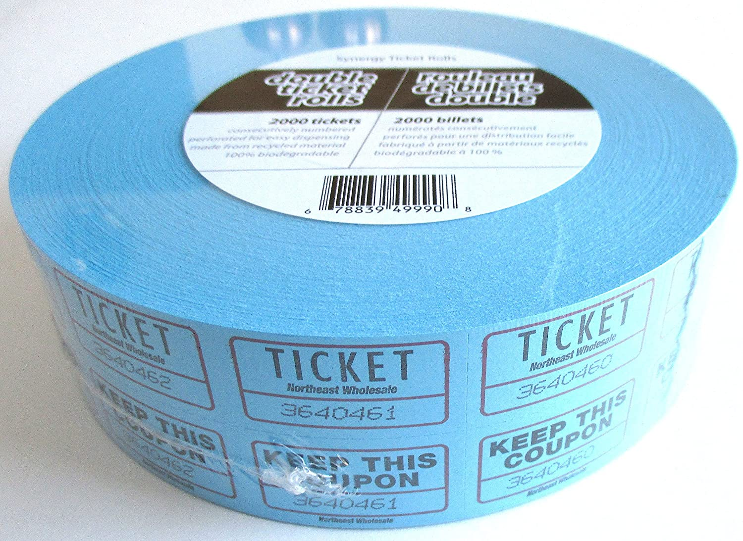 Admit One Tickets With Coupon 2000 Tickets Blue Colour Canada Ticket Rolls