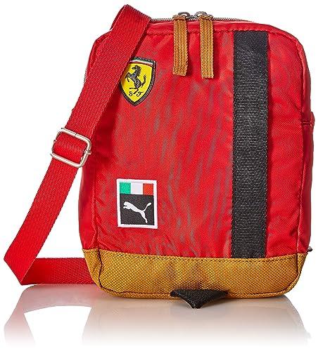 2180b91479f2 Puma Polyester 19 cms Rosso Corsa and Black Messenger Bag (7550101 ...