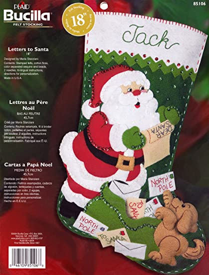 Bucilla Plaid calcetín de Fieltro - Cartas a Papá Noel ...