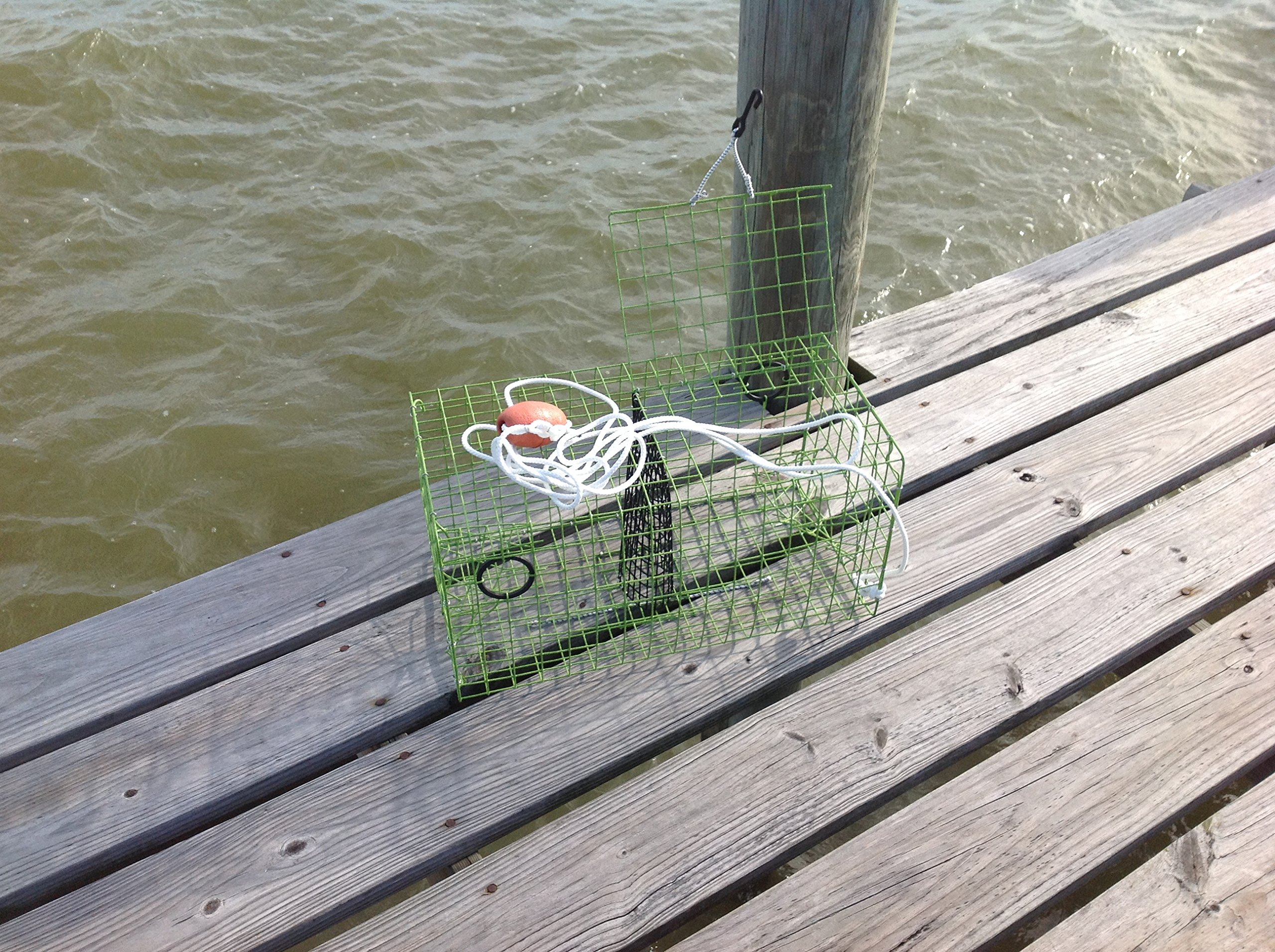 Rob Smith LIME GREEN Trap Maryland Blue crab pot trap Chesapeake Atlantic blue crab PVC coated metal Heavy Duty