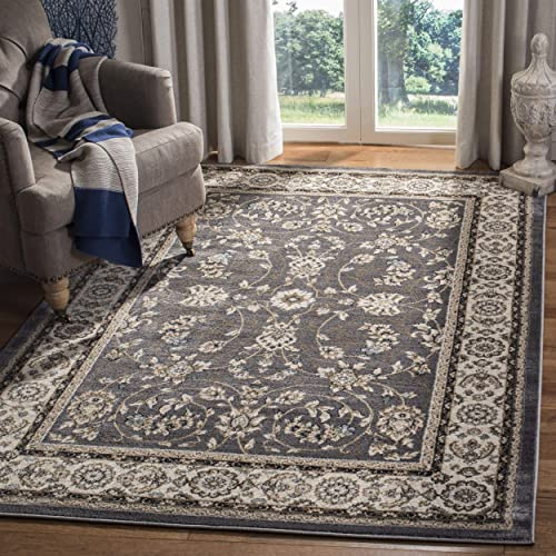 Safavieh Lyndhurst Collection LNH340G Oriental Grey and Cream Area Rug 4' x 6'