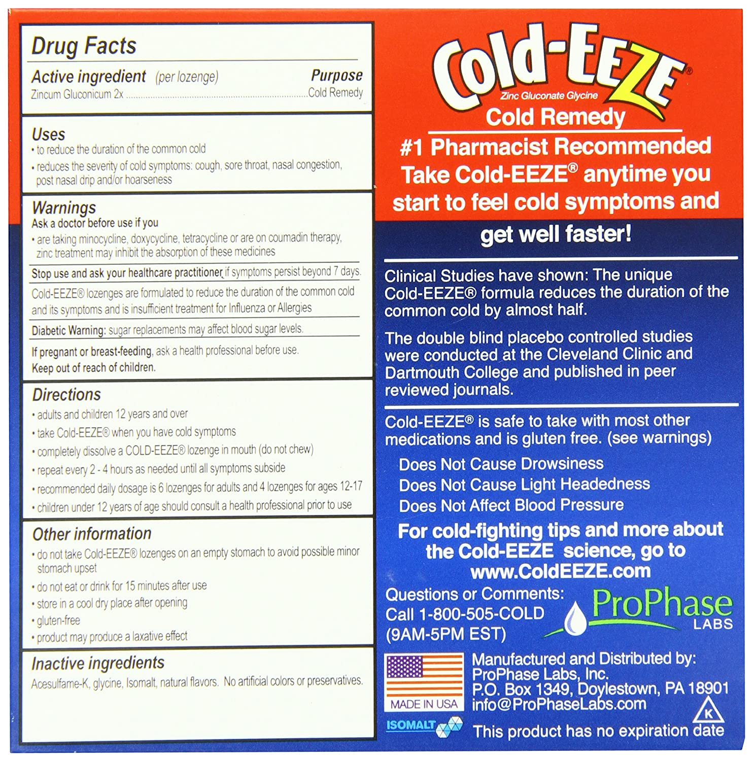 Cold-Eeze Cold Eeze Cold Remedy All Natural Cherry Flavor 18 Lozenges - 1  Pack